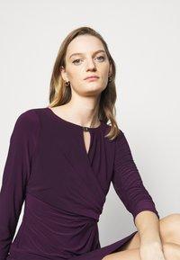 Lauren Ralph Lauren - MID WEIGHT DRESS TRIM - Shift dress - raisin - 3