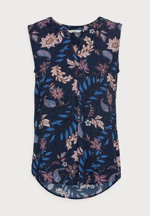 Blouse - navy floral