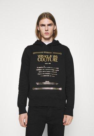 BRUSHED - Sweatshirt - nero + oro
