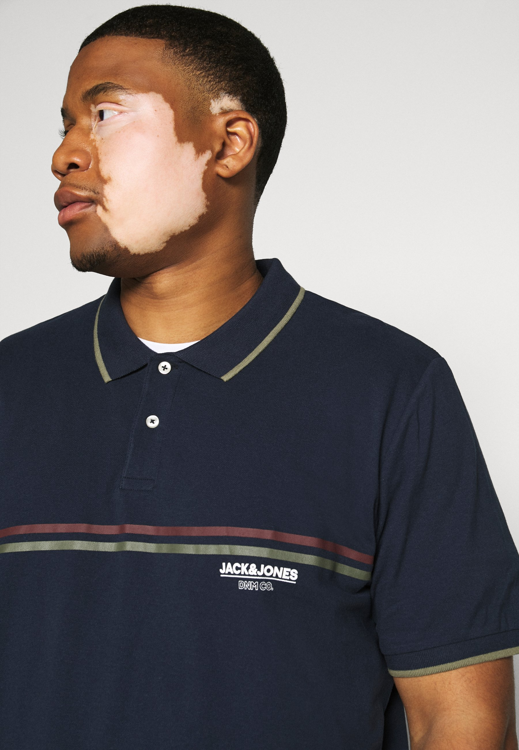Jack & Jones SHAKER  - Polo shirt - navy blazer CZ49S