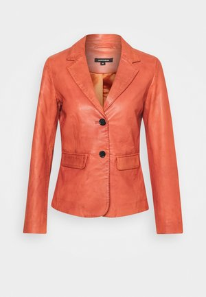 Leather jacket - terracotta
