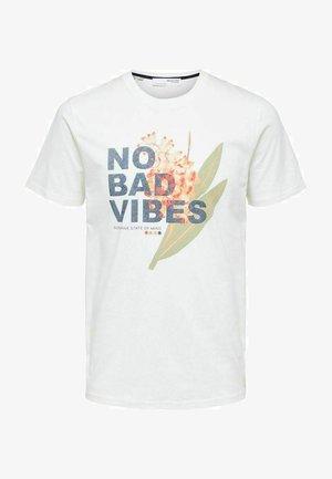 STATEMENT - Print T-shirt - bright white