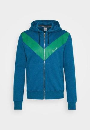GENTS ZIP THROUGH CHEVRON PRINT HOODY - veste en sweat zippée - green