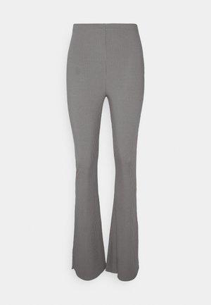 SPLIT HEM - Kalhoty - dark grey marl