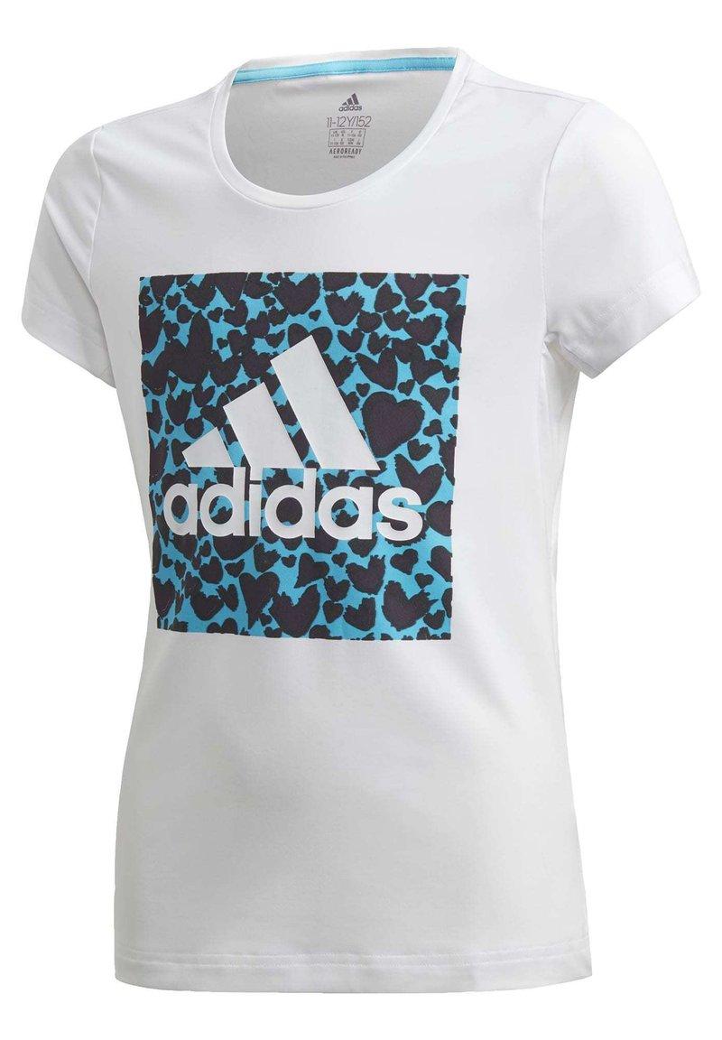 adidas Performance - AEROREADY LEO GRAPHIC T-SHIRT - Print T-shirt - white