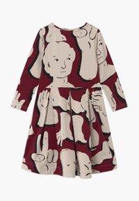 Papu - SWING - Žerzejové šaty - bordeaux - 1