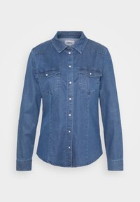 ONLY - ONLROCKIT LIFE - Button-down blouse - medium blue denim - 4