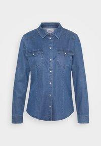 ONLROCKIT LIFE - Button-down blouse - medium blue denim