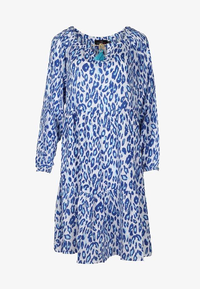 TARA - Day dress - blau/ weiß