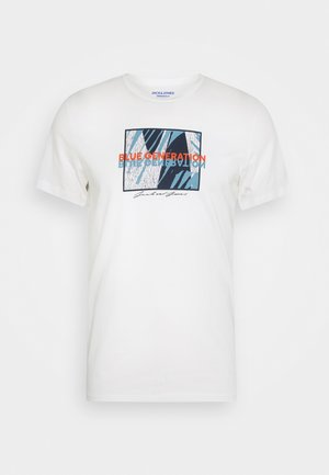 JORBEKA TEE CREW NECK - Print T-shirt - cloud dancer
