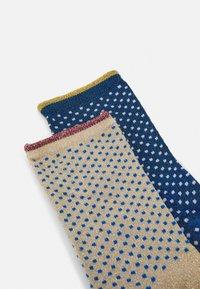 Becksöndergaard - DINA SMALL DOTS 2 PACK - Socks - blue/twilight - 1