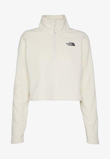 GLACIER CROPPED ZIP - Fleece jumper - vintage white