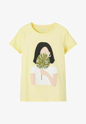 Print T-shirt - yellow pear