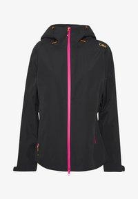 CMP - WOMAN JACKET FIX HOOD - Hardshell jacket - antracite - 6