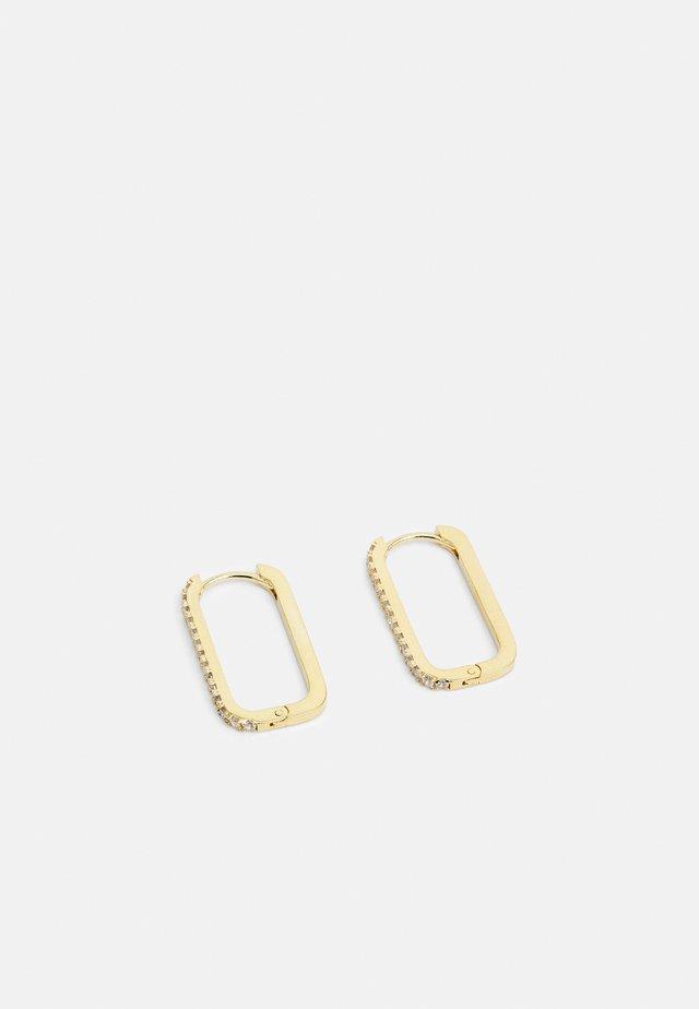 PAVE LONG LINK EARRING - Örhänge - gold-coloured