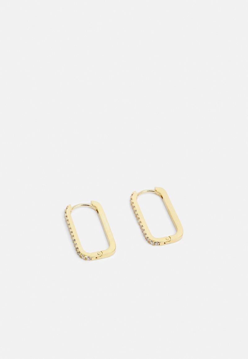 Orelia - PAVE LONG LINK EARRING - Earrings - gold-coloured