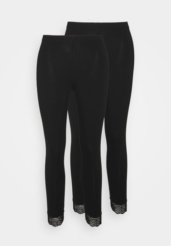 HEM 2 PACK - Leggings - Trousers - black