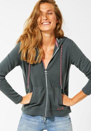 MIT STRUKTUR - Zip-up hoodie - grün