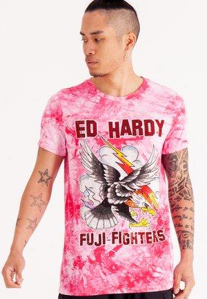 FUJI CLOUD  - Print T-shirt - hot pink