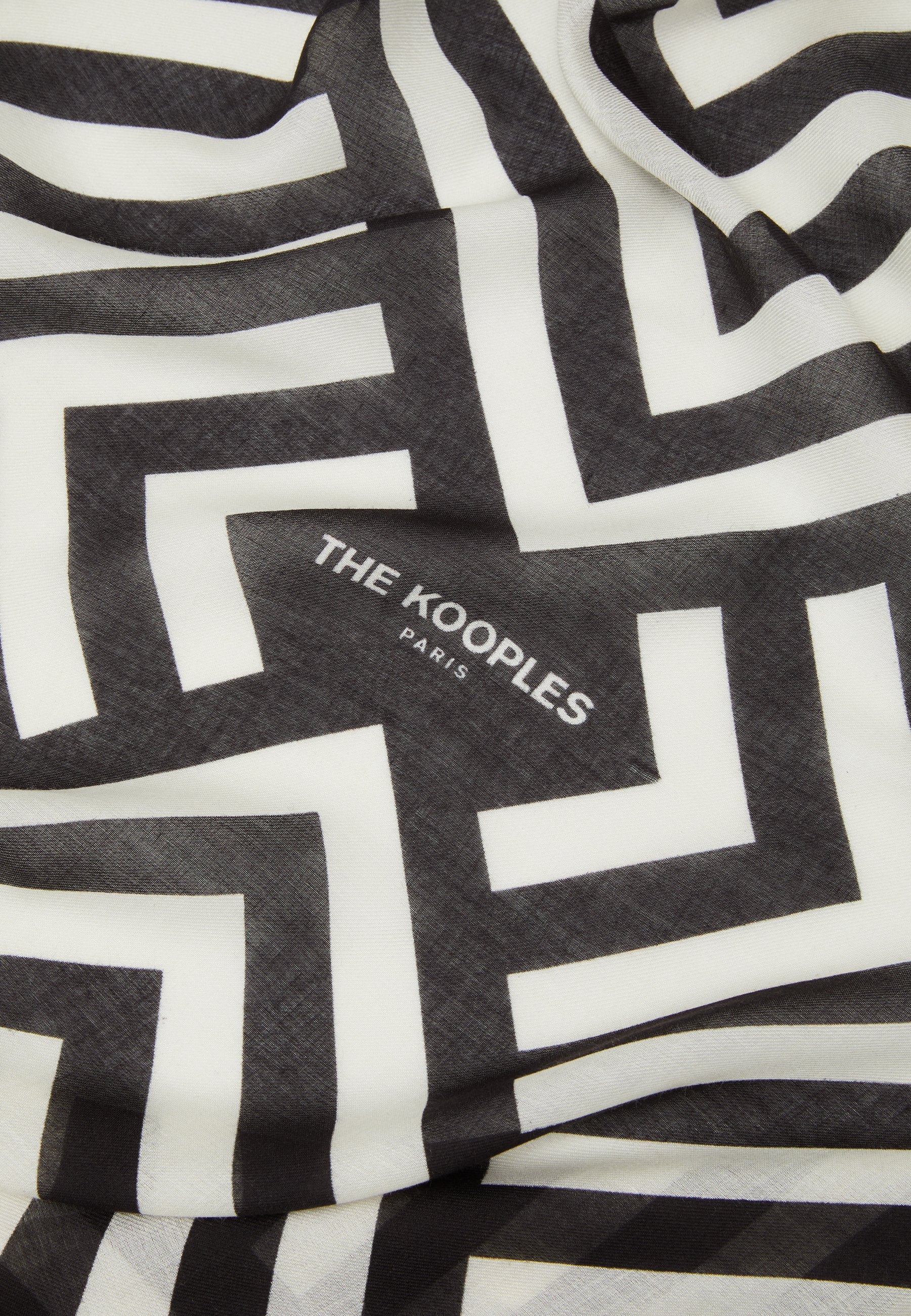 The Kooples Skjerf - black/white/svart hTAIkOPrHX8aN4h