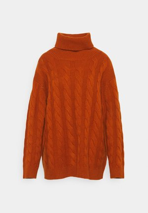 CLASSIC CABLE  - Jumper - heather orange
