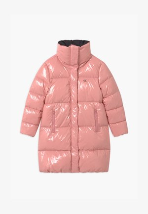 GLOSSY  PUFFER  - Down coat - pink