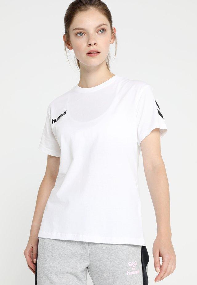 GO WOMAN - T-shirt imprimé - white