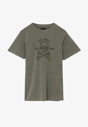 BONES TEE - T-shirt print - khaki