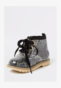 River Island - MINI GIRLS BLACK LACE HIKER BOOT - Lace-up ankle boots - black - 1