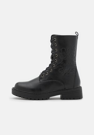 DISNEY - Lace-up ankle boots - black