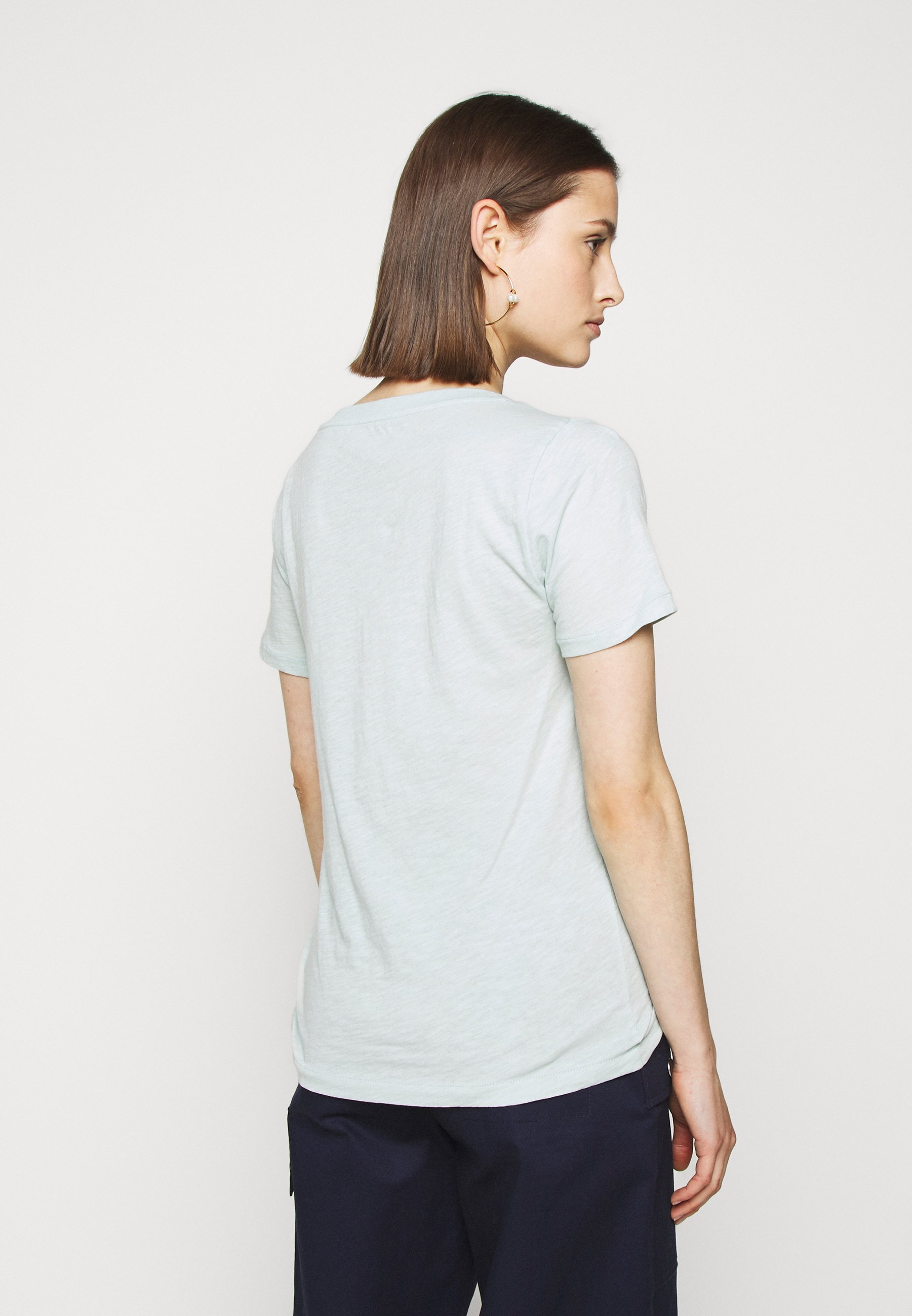 J.crew Vintage V Neck Tee - T-shirts Faded Mint/blågrå