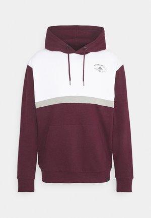 PANEL HOODIE - Sweatshirt - burgundy/white