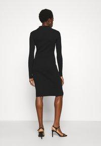Vila - VISOLTO BUTTON DRESS - Shift dress - black - 2