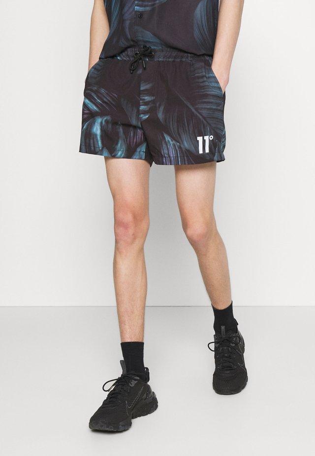 TROPICAL PRINT SWIM SHORT - Shorts - black/green/purple