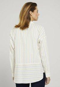 TOM TAILOR DENIM - Overhemdblouse - small creme blue yellow stripe - 2