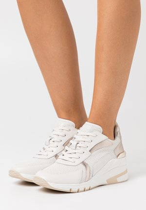 LACE UP - Joggesko - creme/platin
