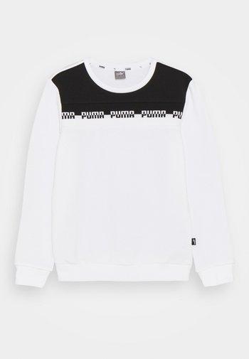 AMPLIFIED CREW  UNISEX - Sweatshirt - white