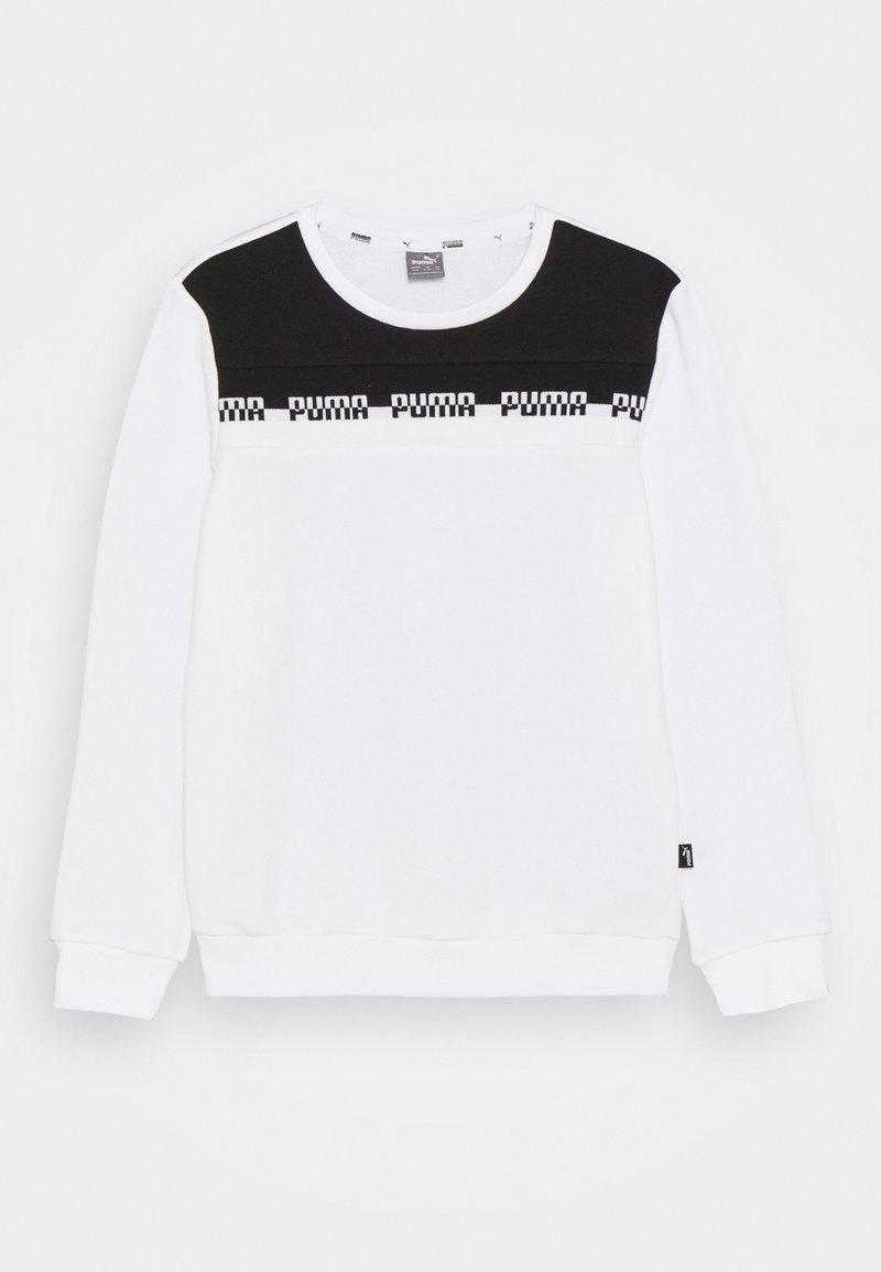 Puma - AMPLIFIED CREW  UNISEX - Sweatshirt - white