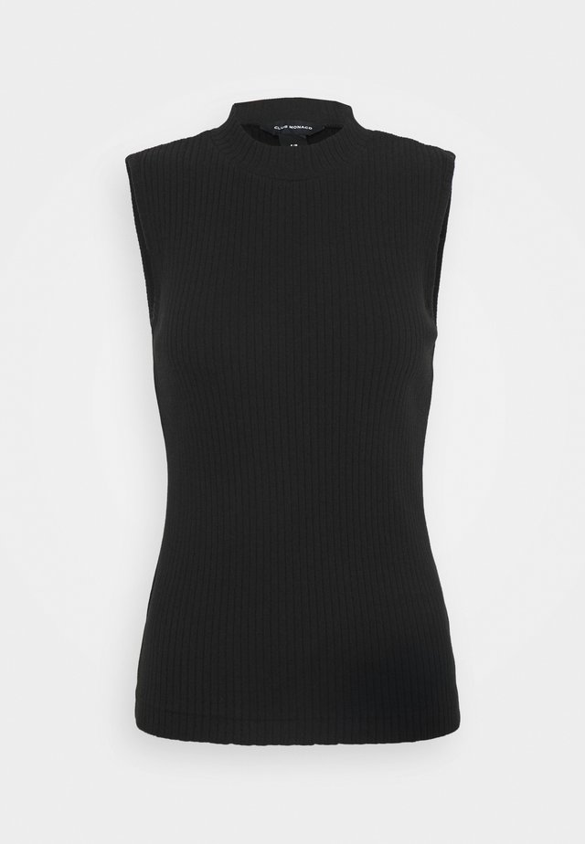 MOCK NECK TANK - Top - caviar