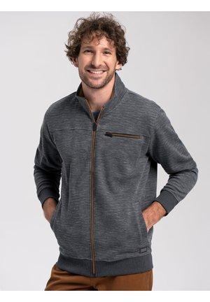 B-GRIS - Sweater met rits - navy mel