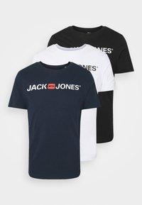 Jack & Jones - JJECORP LOGO TEE CREW NECK 3 PACK - Print T-shirt - white - 6