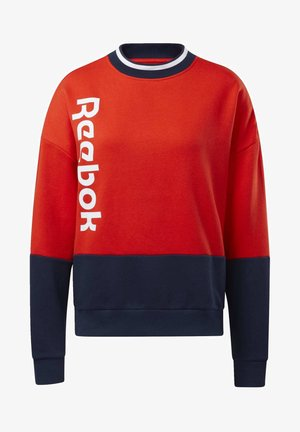 TRAINING ESSENTIALS LOGO CREW SWEATSHIRT - Sweatshirt - red