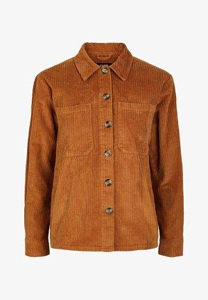 PIECES KURZJACKE CORD - Summer jacket - meerkat