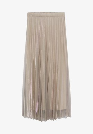 BREEZE-A - Pleated skirt - beige