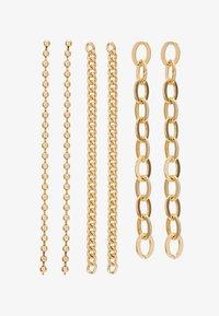 Topshop - CHAIN DROP 3 PACK - Náušnice - gold-coloured - 1