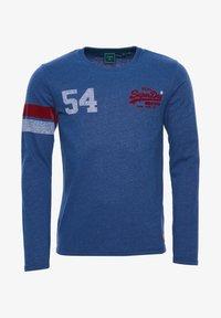 Superdry - VINTAGE LOGO VARSITY - Long sleeved top - mazarine blue marl - 4