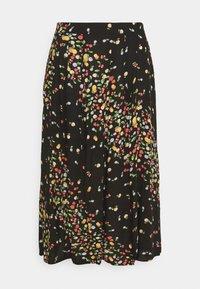 Simply Be - SKIRT WITH SIDE SPLIT - A-line skirt - black fruit print - 4