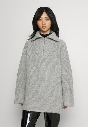 SLFKALLY HIGH NECK - Jumper - light grey melange