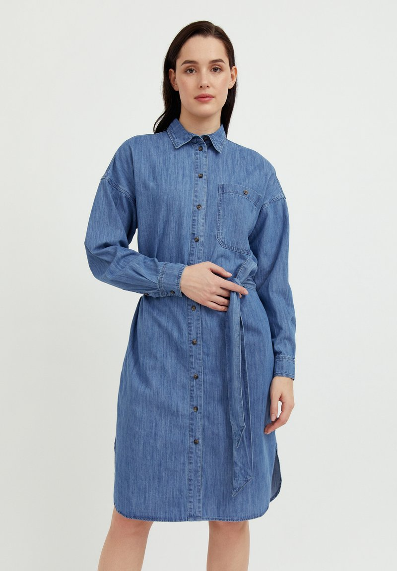 Finn Flare - Denim dress - blue