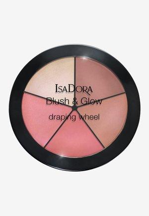 BLUSH & GLOW DRAPING WHEEL - Face palette - peachy rose pop